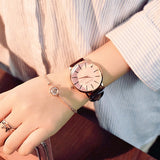 Polygonal dial design women watches luxury fashion dress quartz watch ulzzang popular brand white ladies leather wristwatch - Creative Dreamscape