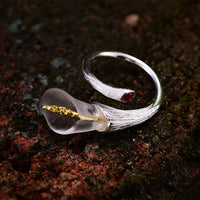 Calla Lily Flower Rings - Creative Dreamscape