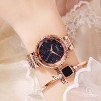 Top Brand Rose Gold Quartz Watches Women Stainless Steel Wristwatch Clock Luxury Ladies Crystal Watch Dress Watch montre femme - Creative Dreamscape