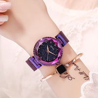 Top Brand Star Face Ladies Watch Women Fashion Rhinestone Casual Quartz Watch Female New Dress Watch Clock Stainless Steel Belt - Creative Dreamscape