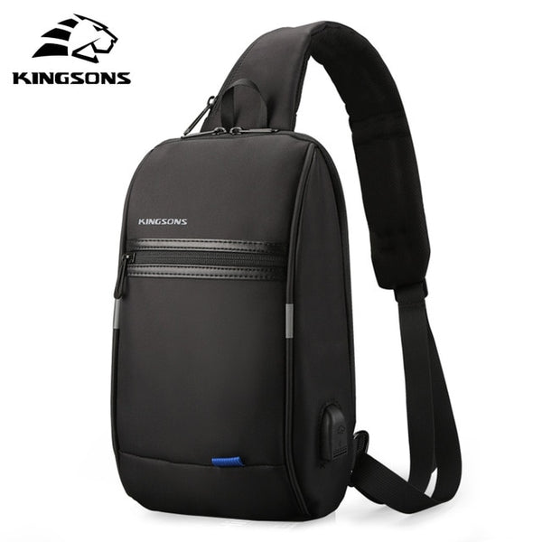 Kingsons Men Chest Bag New Anti-thief Crossbody Bag Water Repellent Men Shoulder Bags 9.7 inch Ipad Fashion Bags - Creative Dreamscape
