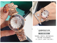 Top Luxury Brand Ladies Crystal Watch Women Dress Watches Women Quartz Watches Female Stainless Steel Watch Clocks reloj mujer - Creative Dreamscape