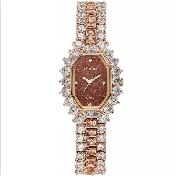 Melissa Women Luxury Rhinestones Jewelry Watches Fashion Vintage Square Bracelet Watch Bangle Starry Night Stars Femme Quartz - Creative Dreamscape