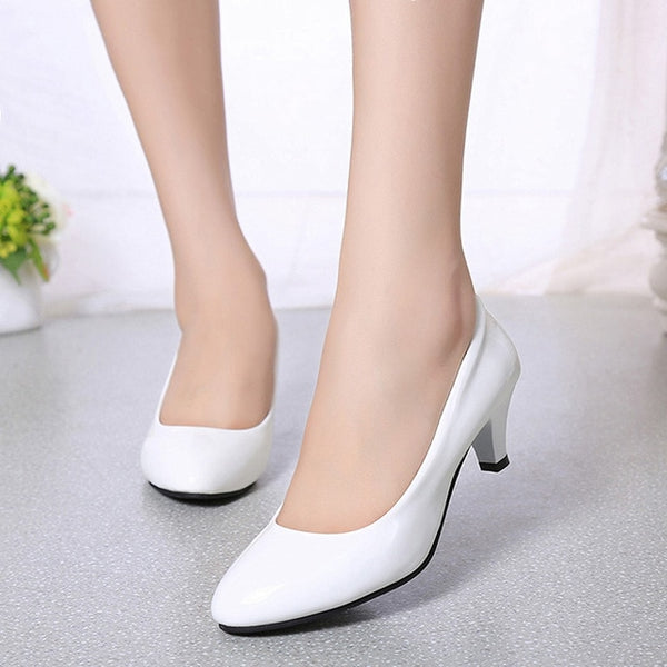 Female Pumps Nude Shallow Mouth Women Shoes Fashion Office Work Wedding Party Shoes Ladies Low Heel Shoes Woman Autumn - Creative Dreamscape
