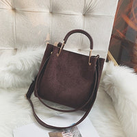 Vintage leather Women's Tote Bags Luxury Faux Suede Crossbody Bags Ladies Handbags and Purses Female Solid color Shoulder Bags - Creative Dreamscape