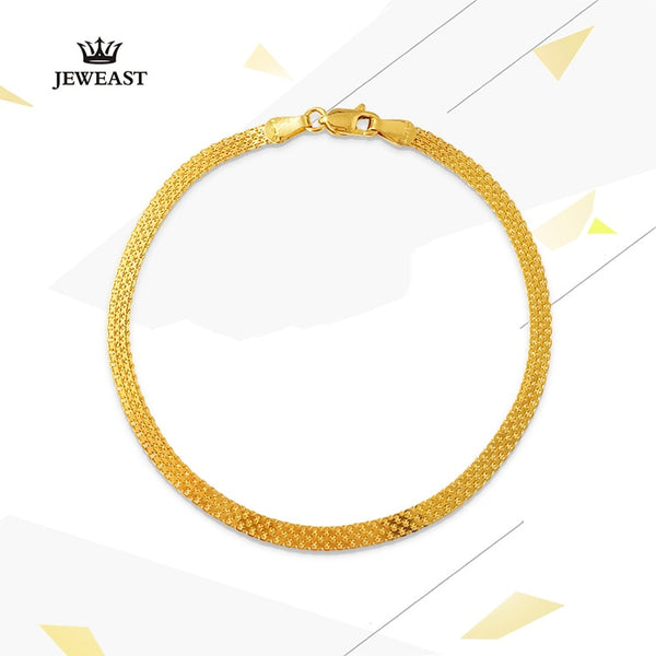 18K Pure Gold Bracelet Real AU 750 Solid Gold Bangle Good Beautiful Upscale Trendy Classic Party Fine Jewelry Hot Sell New 2020 - Creative Dreamscape