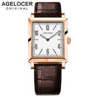 AGELOCER Luxury Brand Ladies Watch Fashion Leather Wrist Quartz Girl Watch for Women Dress Watches Clock Relogio Feminino 3403D2 - Creative Dreamscape
