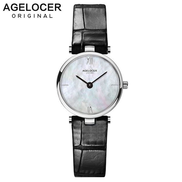 AGELOCER 2019 Minimalism Casual Women Watches Simple Stylish White Quartz Wristwatch for Lady Luxury Dress Watch Woman Business - Creative Dreamscape