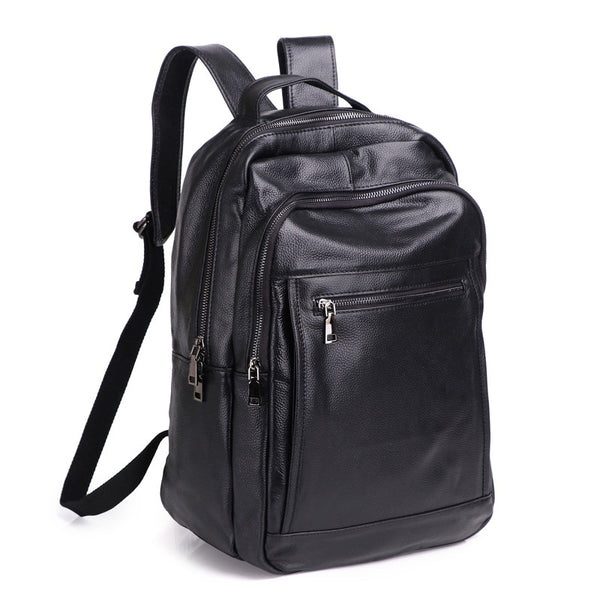 Men Woman Backpack Genuine Leather 15.6 Anti-theft Large Capacity Mochila Laptop Shoulder Bags Male Business Travel Bolsa Gift - Creative Dreamscape