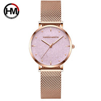 Women Watches Top Brand Luxury Japan Quartz Movement Stainless Steel Sliver White Dial Waterproof Wristwatches relogio feminino - Creative Dreamscape