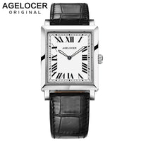 Agelocer 2019 Ladies Luminous Quartz Watch Luxury Swiss Brand Ultra Thin 6.2mm Wrist Leather Watch For Women Birthday Gift - Creative Dreamscape