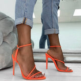 2019 Summer Pumps New Sexy Gladiator Sandals Shoes Women Thin High Heels Open Toe Sandal Lady Ankle Strap Pump Shoes Size 35-42 - Creative Dreamscape