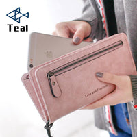 Women Purse Wallets pu Leather Famous Brand Designer Luxury Long Wallet Women Wallets Female Bag Ladies Vintage Simple fashion - Creative Dreamscape