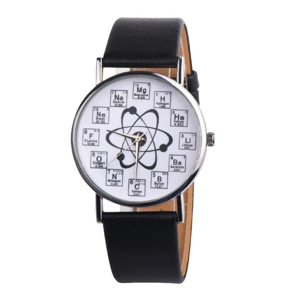 Creative Women Watches Women Girl Leather Band Chemical Symbol Print Analog Quartz Watch relogio feminino - Creative Dreamscape