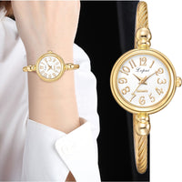 Lvpai Women Small Gold Bangle Bracelet Luxury Watches Stainless Steel Ladies Quartz Wristwatch Brand Casual Women Dress Colck - Creative Dreamscape