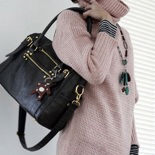 women's Handbag Vintage Belt Bear Casual Tote Female Shoulder Bag Messenger Bag Casual Bag - Creative Dreamscape