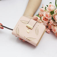 Wallet Female Women's Wallet Snap Coin Purse Phone Bag Bow Multi-card Bit Card Holder Purse Women Luxury Billetera Mujer - Creative Dreamscape