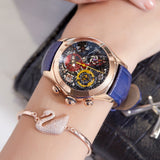 Reef Tiger/RT 2019 Women Fashion Watches Swiss Ronda Movement Skeleton Watches Rose Gold Watches Date RGA7181 - Creative Dreamscape