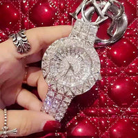 2019 new style! Top Quality Women Watches Luxury Steel Full Rhinestone Wristwatch Lady Crystal Dress Watches Female Quartz Watch - Creative Dreamscape