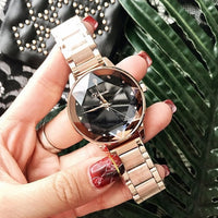 2019 Luxury Brand lady Crystal Watch Women Dress Watch Fashion Rose Gold Quartz Watches Female Stainless Steel Wristwatches - Creative Dreamscape