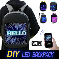 Fashion Waterproof WiFi Smart LED Screen Dynamic Backpack DIY Light City Backpack For Walking Outdoor Advertising Mochila De Led - Creative Dreamscape