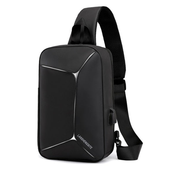 New USB Backpack Shoulder Mochilas One Strap Smart Bagpack Men Bag Travel Classic Teenage Shockproof Urban Crossbody Back Pack - Creative Dreamscape