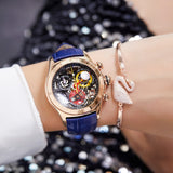 Reef Tiger/RT Ladies Fashion Watches Skeleton Watches Swiss Ronda Movement Luxury Rose Gold Watches Date RGA7181 - Creative Dreamscape