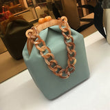 Women Box Bag Handbag Luxury Designer 2019 Acrylic Thick Chain Clip Bucket Bags Women Famous Brands Purses And Handbag For Girls - Creative Dreamscape