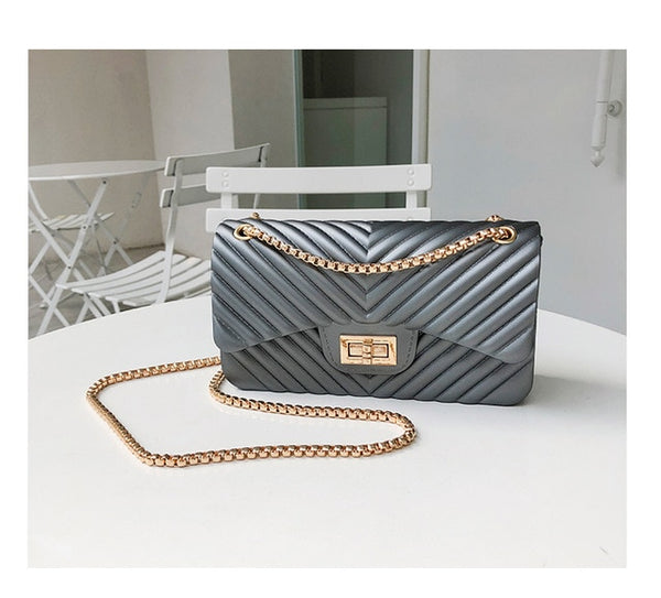 new Famous Brand Leather Messenger Bags Luxury Shoulder Bag Quilted Designer Handbags Women Bag Vintage Female Chain Jelly pack - Creative Dreamscape