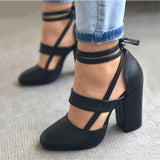 Women Pumps Plus Size 35-43 Women Heels Chaussures Femme Gladiator Summer High Heels For Party Wedding Shoes Women Thick Heels - Creative Dreamscape