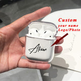 Custom name/logo/image Hard Plastic Case For Air Pods Case for Bluetooth Wireless Airpod Cover DIY Customized Photo Letters Hot - Creative Dreamscape