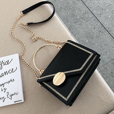 Matcha green PU Leather chain design Crossbody Bags Women Small Chain Handbag small bag Hand Bag Ladies Designer Evening Bags - Creative Dreamscape