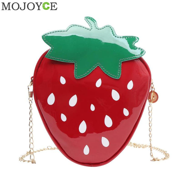 Ladies Strawberry Pattern Cross body Messenger Bags - Creative Dreamscape