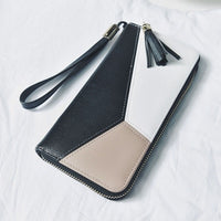 Wallets Women Long Zipper Luxury Brand Leather Coin Purses Tassel Design Clutch Wallets Female Money Bag Credit Card Holder 106 - Creative Dreamscape