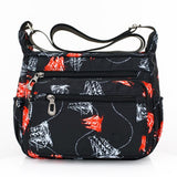 2019 Designer Handbags Women Flower Butterfly Printed Waterproof Nylon Shoulder Bags Retro Crossbody Bag Bolso sac a main femme - Creative Dreamscape