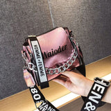 DikizFly Laser Women Bags Fashion Luxury Shoulder Handbags Chains Crossbody Bag Women 2019 Letter Mini Flap Purse bolsa feminina - Creative Dreamscape