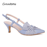 MaxMuxun Women High Heels Pointed Toe Pumps New Style Ladies Butterfly Knot Party Dress Shoes For Office Lady - Creative Dreamscape