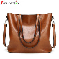 FGJLLOGJGSO Women bag Oil wax Women's Leather Handbag Luxury shoulder bag Lady Hand Bags With Purse Women messenger bag Big Tote - Creative Dreamscape