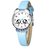 KDM Girl Watch Kids Bling Cute Eyes Diamond Waterproof Genuine Leather Wristwatch Lovely Kid Children Watches Students Clock - Creative Dreamscape