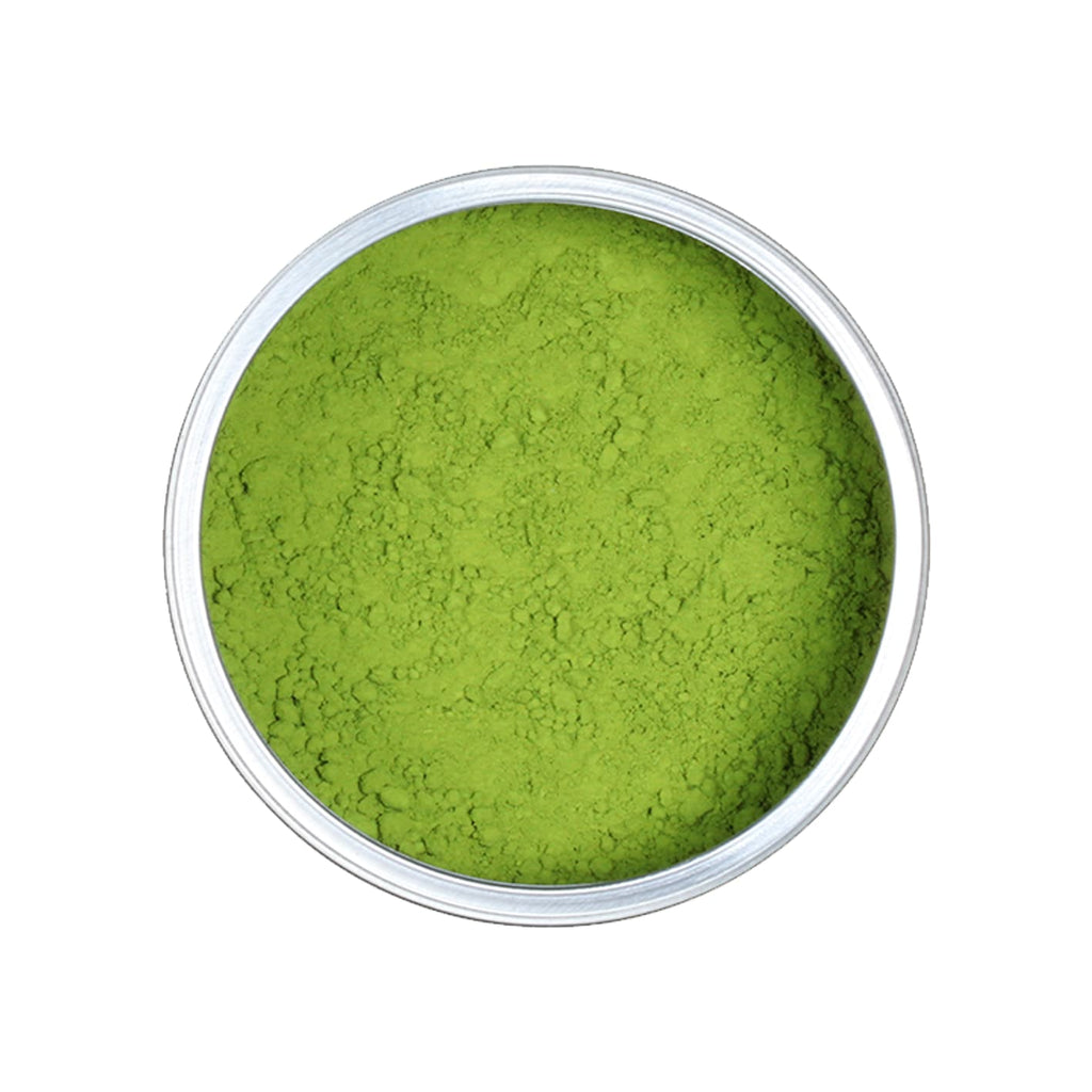 Matcha Pulver in Metalldose