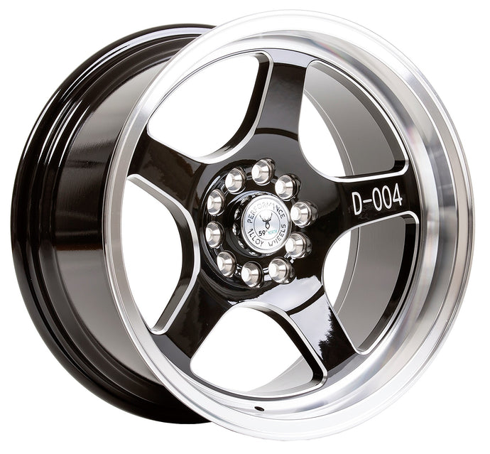 59 North Wheels D-004 black/champer/polished lip