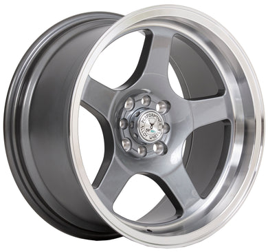 59 North Wheels D-004 glossy gunmetal/polished lip