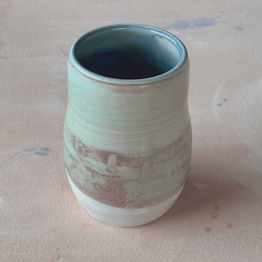Soda Fired Jade Vase