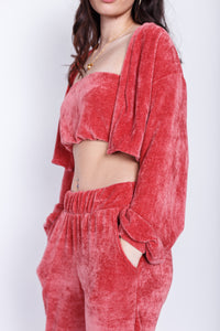 "Rose ""Cozy"" Bandeau Top & Cardigan Set"