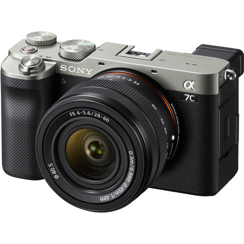 SONY A7c FULL-FRAME COMPACT MIRRORLESS CAMERA, FE 28-60mm f/4-5.6, SILVER