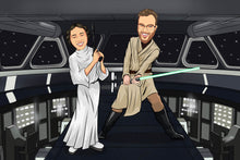 Load image into Gallery viewer, I'm Cartoonified | Star Warsify - Canvas | Personalised Canvas Artworks
