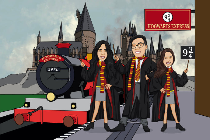 I'm Cartoonified | Harry Potterify - Canvas | Personalised Canvas Artworks