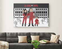 Load image into Gallery viewer, I'm Cartoonified | Money Heist - Canvas | Personalised Canvas Artworks