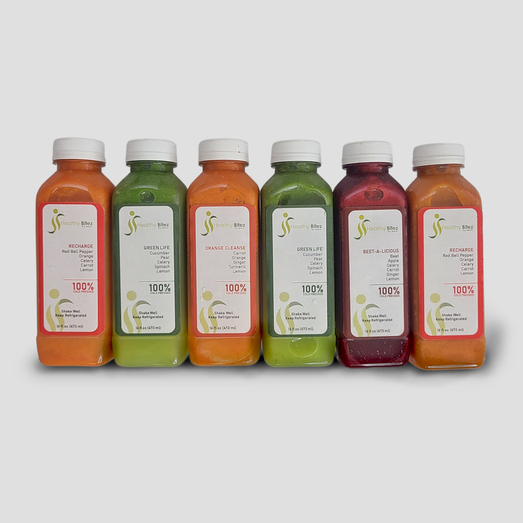 6-pack of healthy juices | Healthybitez.com by Maru