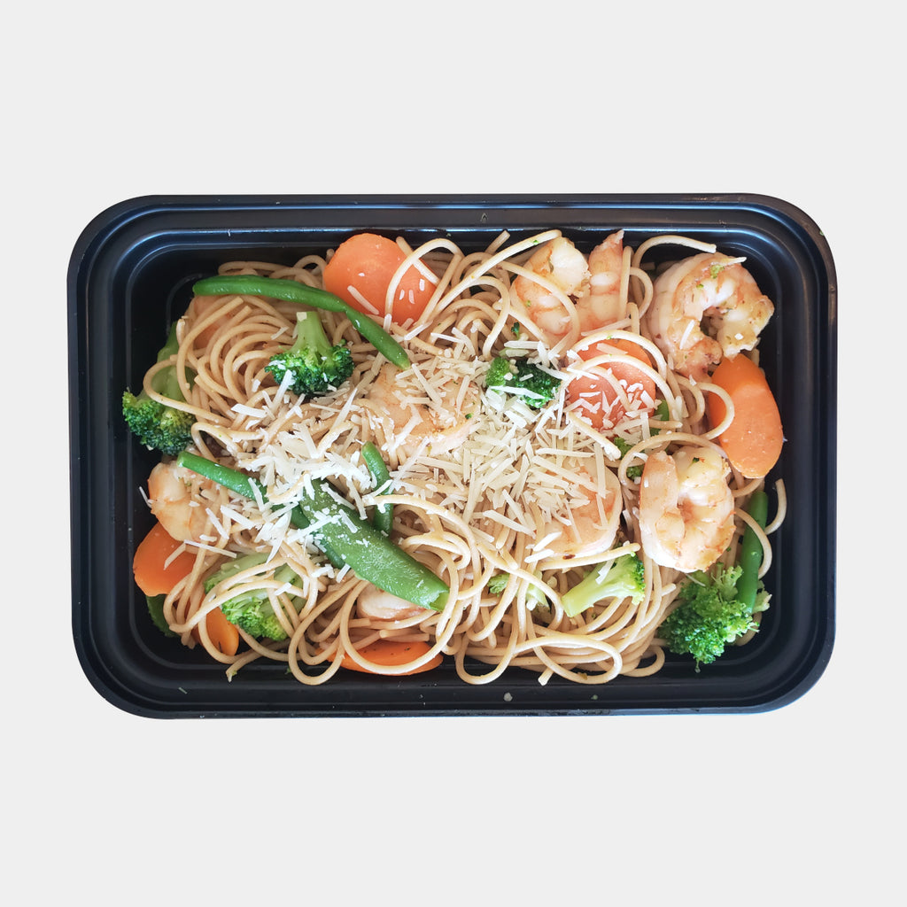 Shrimp and Veggies Pasta